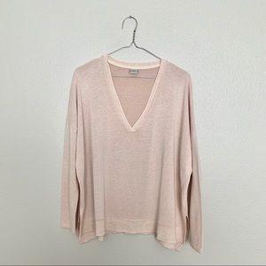 Zara WB Collection Blush Pink V-neck Sweater
